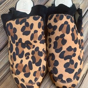 Sole Society Leopard Mules - Tawni Style Sz 10